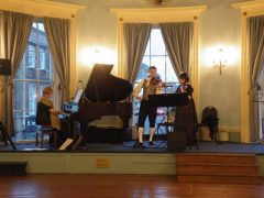 Band on stage at Devizes Town Hall